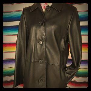 Liz Claiborne black leather jacket